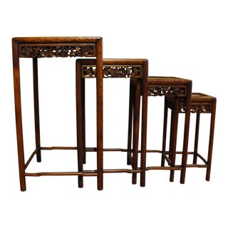19th Century Chinese Nesting Tables - Set of 4 For Sale