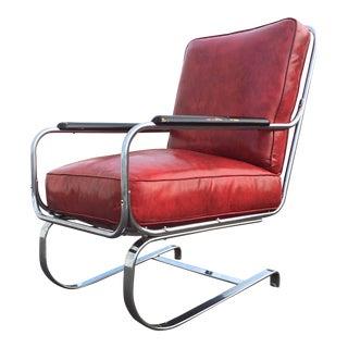 "1930s Art Deco Kem ""Springer Chair"" for Lloyd Manufacturing For Sale"
