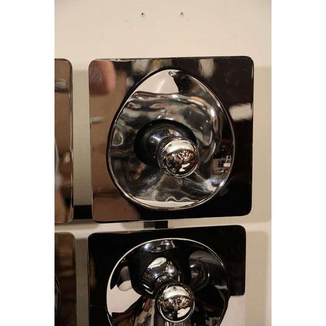 Gaetano Sciolari Modernist Four-Way Chrome Sconce & Wall Sculpture by Sciolari For Sale - Image 4 of 10