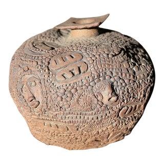 Vintage Pierrette Hammerling Artisan Pottery Vase For Sale