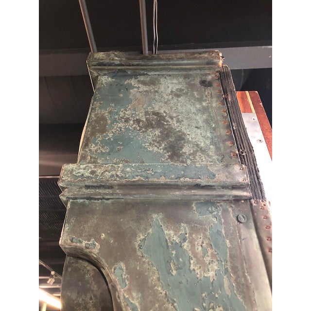 Copper Antique Patina Wall Mirror For Sale - Image 7 of 9