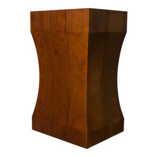 Walnut Pedestal For Sale