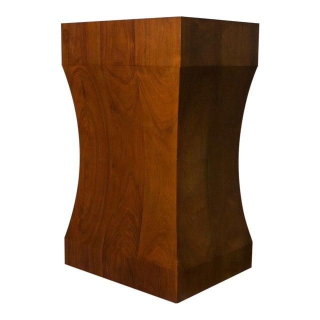 Walnut Pedestal For Sale