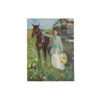 "Grace B. Keogh ""Woman and Horse"" Painting For Sale"