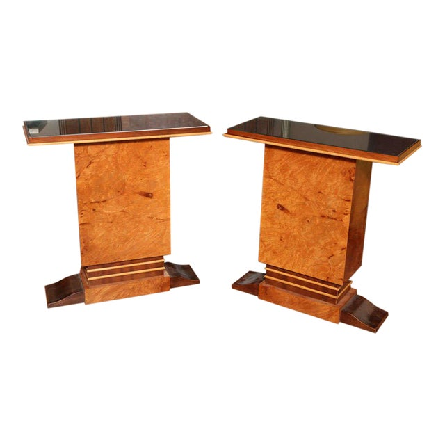 Pair of French Art Deco Side Tables For Sale