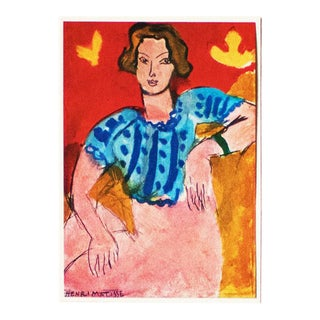 1940s Henri Matisse, Portrait of a Young Woman, Original Period Swiss Lithograph For Sale