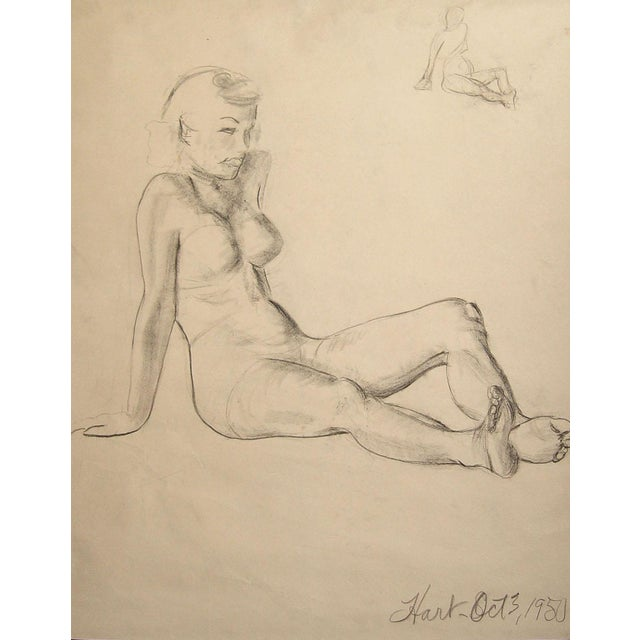 Figural Study in Charcoal, 1950 - Image 1 of 3