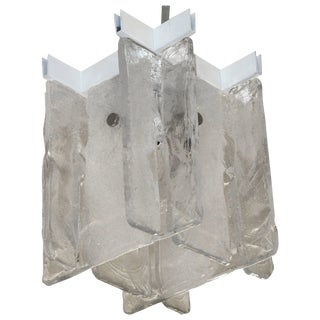Small-Scale Interlocking Glass Flush Mount Pendant Light For Sale