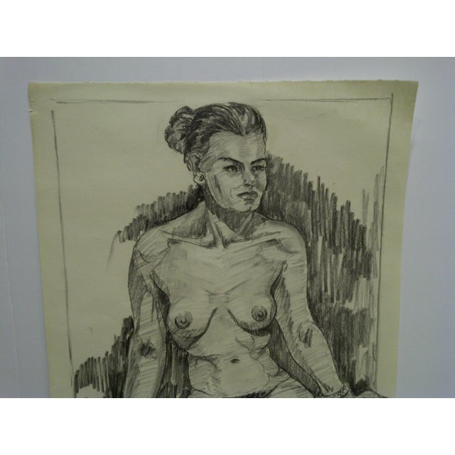 "This is an Original Drawing / Sketch on Paper -- Titled ""Very Serious Nude II"" By Tom Sturges Jr. - Dated December 14,..."