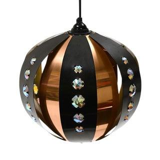 1960s P32 Copper & Matt Black Werner Schou Pendant Light