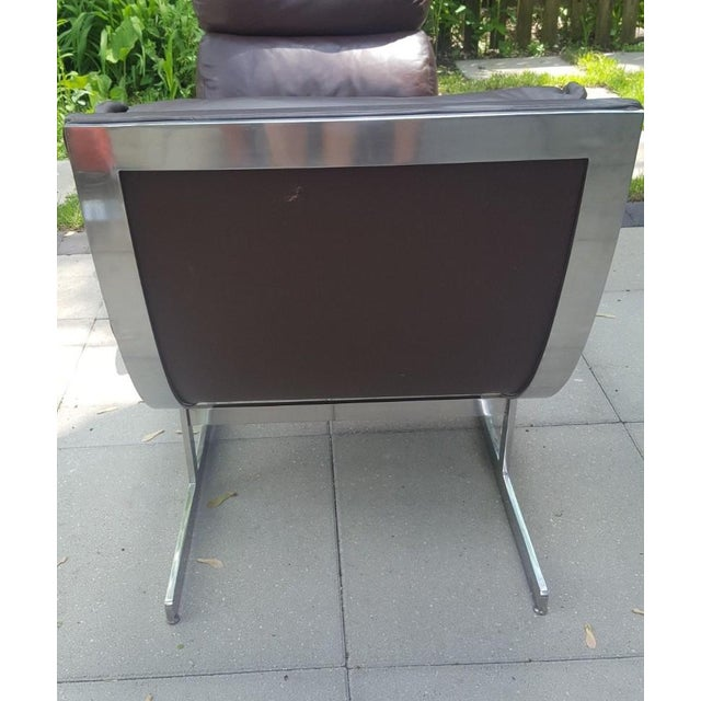 1980s Mid-Century Modern Kipp Stewart for Directional Chrome Lounge Chairs - A Pair For Sale - Image 5 of 11
