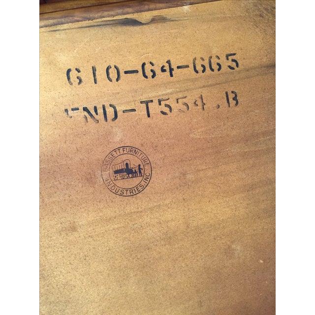 Bassett Mid-Century Two Tier Walnut Surfboard Side Tables - Pair - Image 6 of 11
