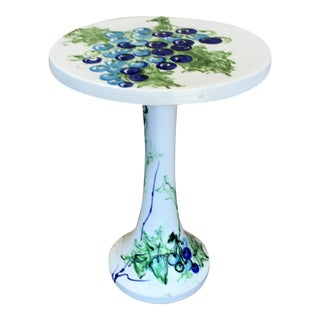 Raymor Ceramic Grapevine Top Wine Table For Sale