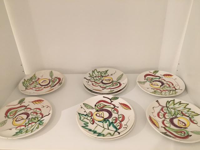 Italian Dessert Plates - Set of 8 - Image 3 of 4  sc 1 st  Chairish & Italian Dessert Plates - Set of 8 | Chairish