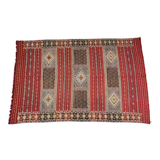 Moroccan Handmade Kilim Rug - 7′6″ × 11′6″ - Image 1 of 11