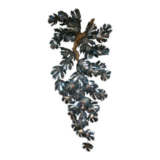 Vintage Mid-Century Torch Cut Wall Sculpture For Sale