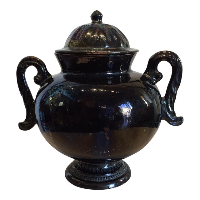 Mexican Ceramic Handled Urn - Image 1 of 4