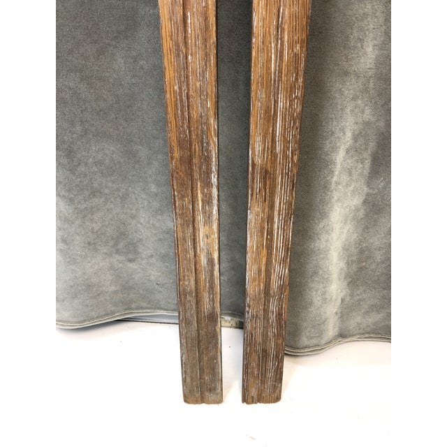 Vintage Rustic Wood Skis - a Pair For Sale - Image 9 of 13