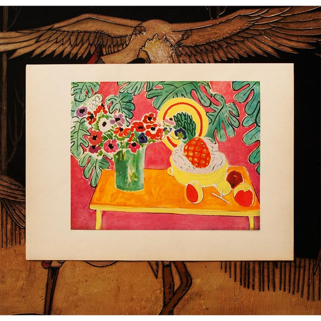 "The School of Paris Henri Matisse Original ""The Pineapple"" Swiss Period Lithograph, C. 1940s For Sale - Image 3 of 7"