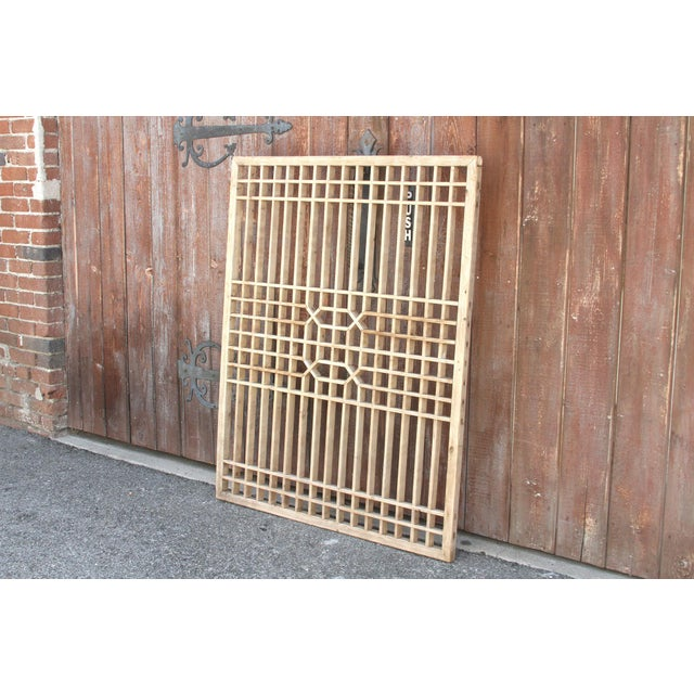 Early 20th Century Early 20th Century Geometric Lattice Window Panel For Sale - Image 5 of 10