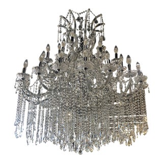 Maria Theresa 48 Light Crystal Chandelier For Sale