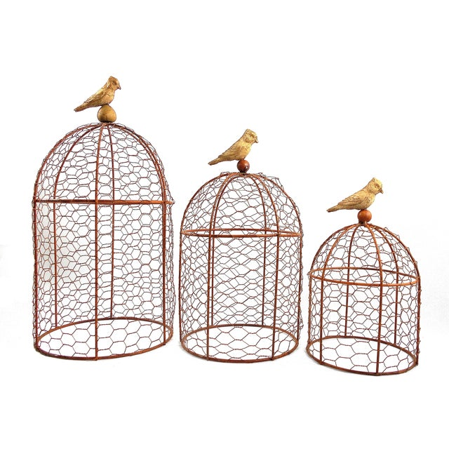Decorative Wire Garden Cloches - Set of Three - Image 2 of 4