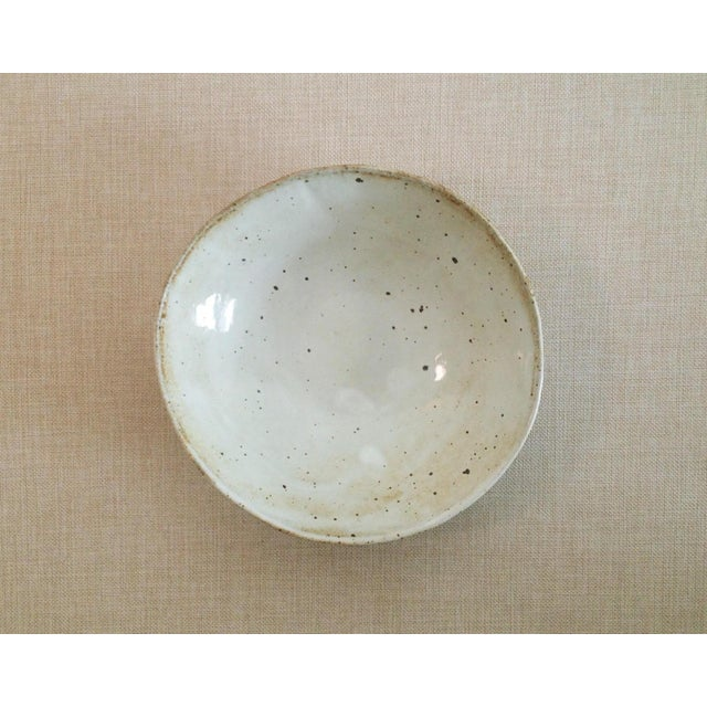 Boho Chic Speckled Stoneware Soup Bowl For Sale - Image 9 of 9