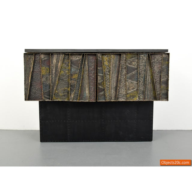 Paul Evans for Directional Deep Relief Wall Cabinet For Sale - Image 10 of 12