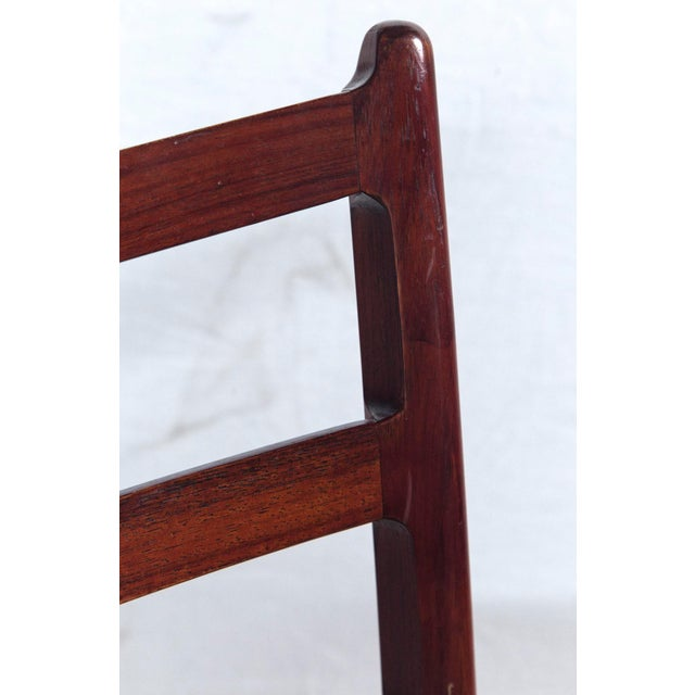 Mid-Century Modern Rosewood Game Table & 4 Chairs For Sale - Image 3 of 13