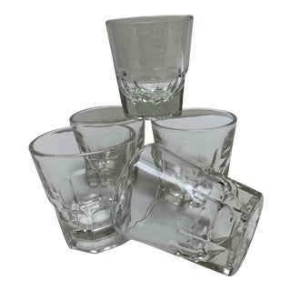 Classic Set of Five Whiskey Shot Glass Tumblers For Sale