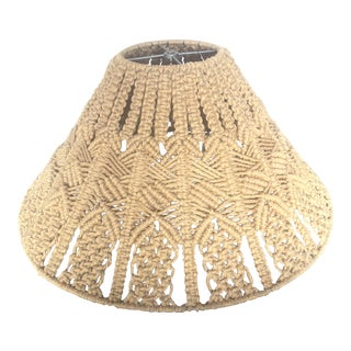 1980s Handmade Macrame Lampshade For Sale