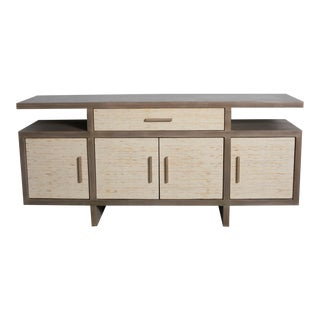 Transitional Seagrass Grey Server For Sale