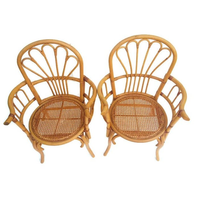 1980s Vintage Bent Bamboo Arm Chairs - a Pair For Sale - Image 10 of 13
