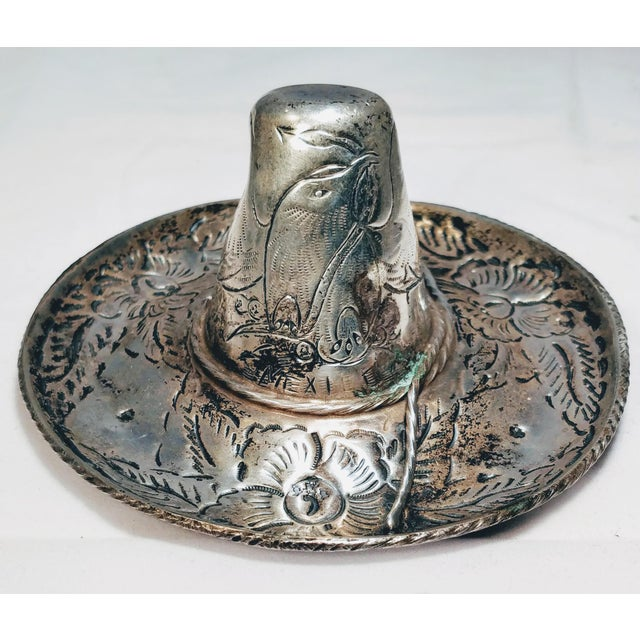 Vintage Mexican Sterling Sombrero. This 1950s Retro Hand Engraved Sterling  Silver Sombrero was created by 05170248f47