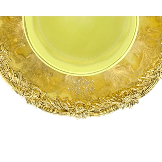Art Nouveau Royal Tiffany & Co. Chrysanthemum Silver-Gilt and Glass Ramekins For Sale - Image 3 of 5