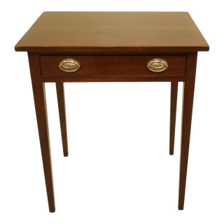 Kittinger Colonial Williamsburg 1 Drawer Mahogany Stand or Table For Sale