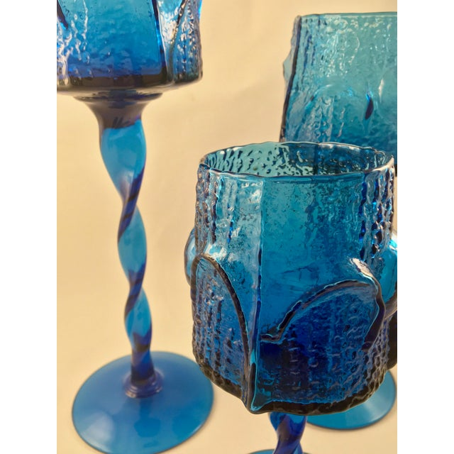 1960s Vintage Stelvia Early 1960s Antiqua Candle Holders Designed by Blenko's Wayne Husted - Set of 3 For Sale - Image 5 of 11