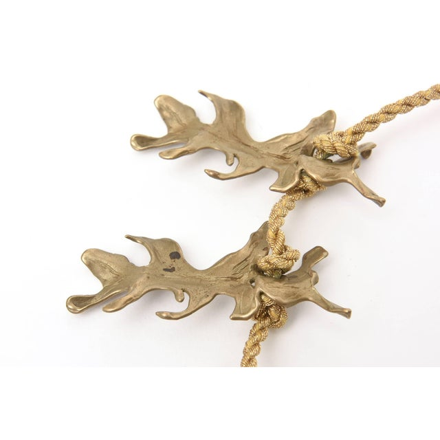1980s Mary McFadden Bronze and Silk Braided Rope Couture Sculptural Necklace For Sale - Image 5 of 10
