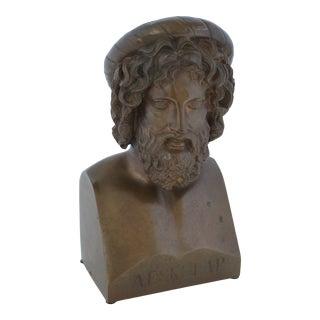 Antique Grand Tour Paul Stotz Bronze Sculpture of Greek God Healer Aeskulap For Sale