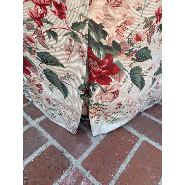 1980s 1980's Chintz Custom Fabric Arm Chair For Sale - Image 5 of 6