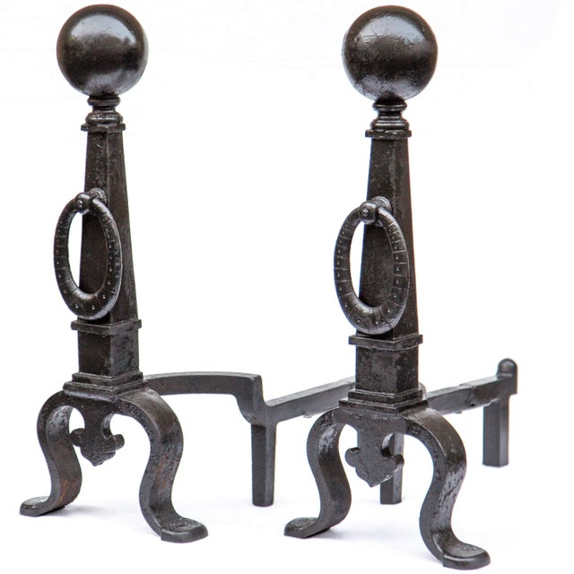 Pair of 1890s Bradley & Hubbard Tall Andirons For Sale - Image 11 of 11