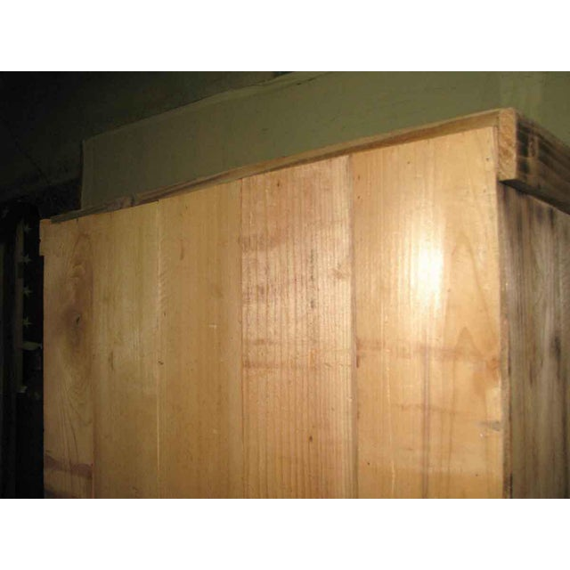 Pine Tall Narrow Pine Rustic Book Case For Sale - Image 7 of 8
