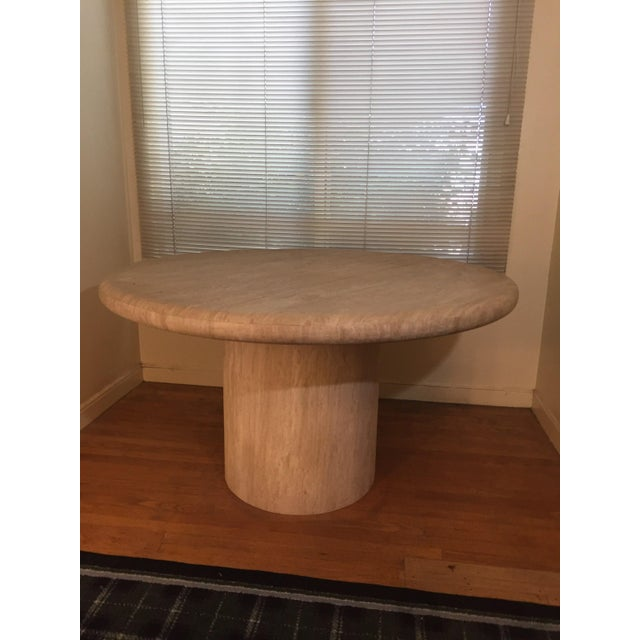 American Solid White Marble Dining Table For Sale - Image 3 of 4