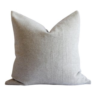 Cottage Natural Custom Made Wool and Linen Pillow For Sale