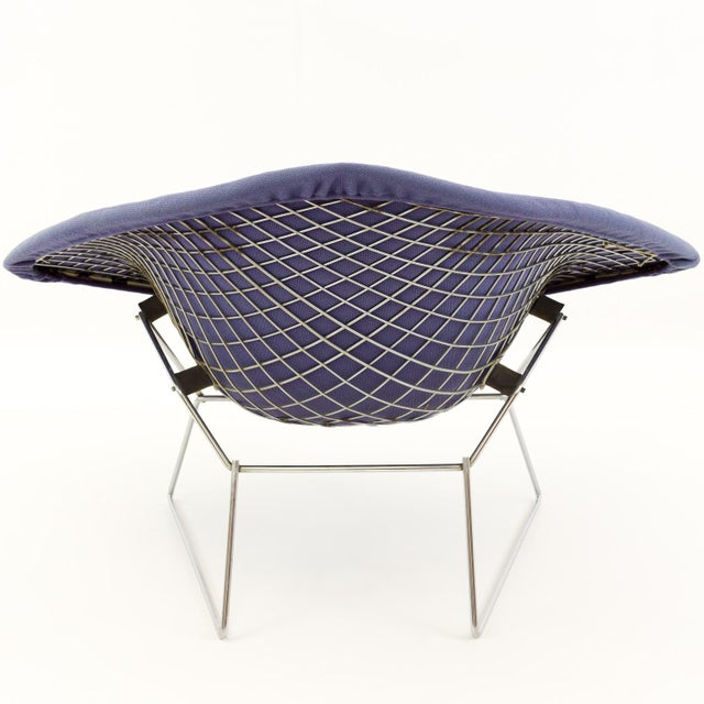 Vintage Mid-Century Harry Bertoia for Knoll Diamond Rocking Chair & Ottoman - 2 Pieces For Sale - Image 11 of 13