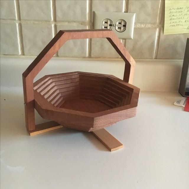 Brutalist Style Modern Handmade Collapsing Basket - Image 2 of 5