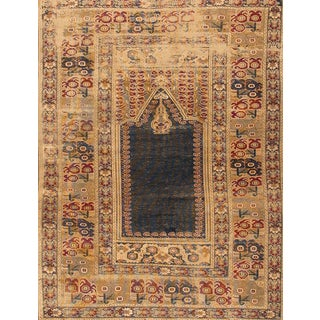 Late 19th Century Antique Turkish Silk Rug For Sale