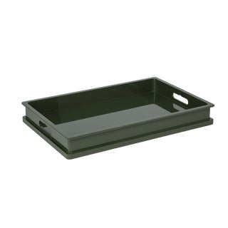 Jeffrey Bilhuber Collection Breakfast Tray Top in Dark Olive For Sale