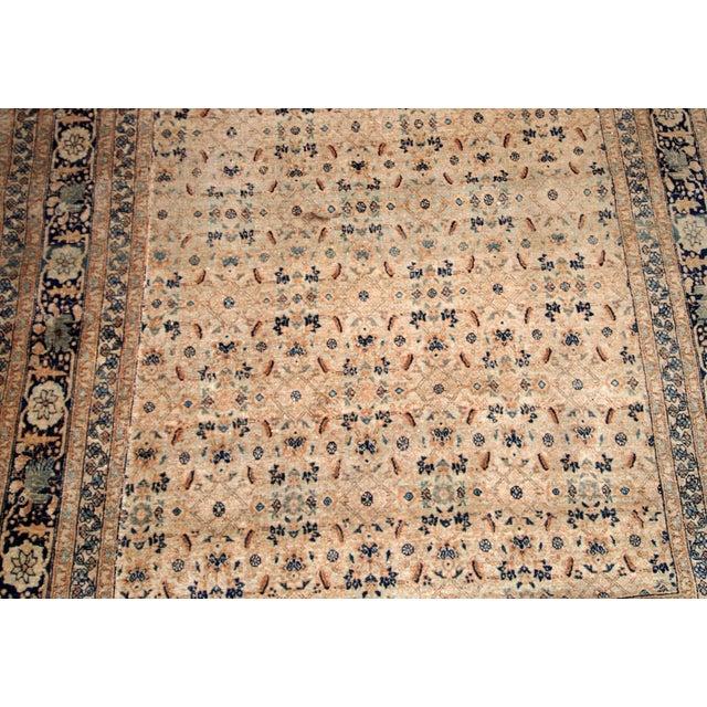 1880s Handmade Antique Persian Tabriz Hajalili Rug 4.2' X 6.5' For Sale - Image 12 of 13