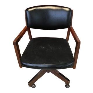 Indiana Chair Co Danish-Modern Swivel-Tilt Executive Desk Chair For Sale